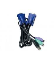 Cavo KVM 3M USB con convertitore PS2 a USB