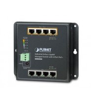 SWITCH GIGA MANAGED PARETE 8PORTE CON 4PORTE POE+ (-40/+75°)