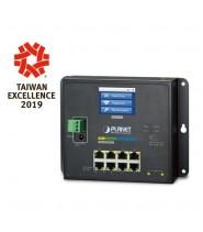 Switch Gigabit L2+ a parete 8 Porte 10/100/1000-T + 2 Porte SFP con schermo LCD