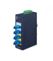 Industrial 2-channel Optical Fiber Bypass Switch  4x SC MM (-40 a 75°C, dual 9~48V DC/24V AC)