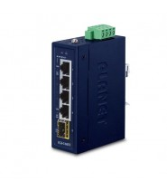 Switch Unmanaged 4-Porte 10/100/1000T + 1-Porta 100/1000X SFP Compact Size (-40 a 75°C)