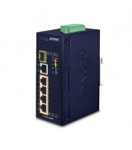 Switch Unmanaged 4-Porte 10/100/1000T 802.3at PoE + 1-Porta 10/100/1000T + 1-Porta 100/1000XSFP (-40 a 75°C)