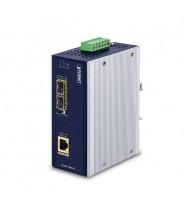 Media Converter 2-Porte 100/1000X SFP a 1-Porta 10/100/1000T 802.3bt PoE++