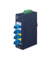 Industrial 2-channel Optical Fiber Bypass Switch  4x LC MM (-40 a 75°C, dual 9~48V DC/24V AC)