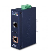 Industrial Single-Port 10/100/1000Mbps 802.3bt PoE++ Injector (60 Watts, -40~75 degrees C)
