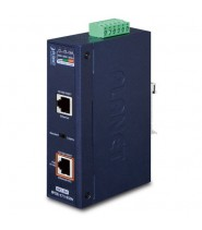 Industrial Single-Port 10/100/1000Mbps 802.3bt PoE++ Injector (95 Watts, -40~75 degrees C, 12~48V DC)