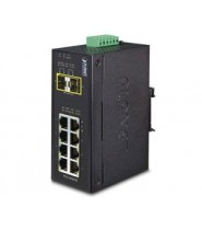 IP30 Industrial 8Porte 10/100/1000T + 2Porte 100/1000X SFP