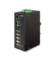 Switch Gigabit POE+ SNMP 8P 10/100/1000 Base-T IP30 + 2P SFP