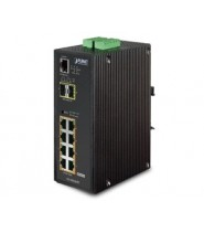 SWITCH 8P.10/100/1000T POE 802.3AT +2p.SFP IP30 -40/+75°C