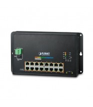 Industrial 16-Port 10/100/1000T 802.3at PoE + 2-Port 100/1000X SFP Wall-mounted Managed Switch