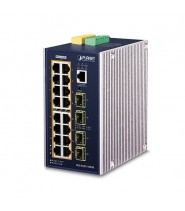 L3 Industrial 16-Port 10/100/1000T 802.3at PoE + 4-Port 100/1000X SFP Managed Ethernet Switch