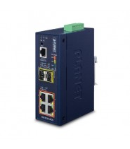 L2+ Industrial 4-Port 10/100/1000T 802.3at PoE + 2-Port 100/1000X SFP Managed Ethernet Switch