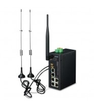 Industrial 4G LTE Cellular Wireless Gateway with 5-Porte 10/100/1000T