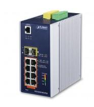 Industrial L3 8-Porte 10/100/1000T 802.3bt PoE + 2-Porte 100/1000X SFP +