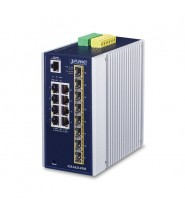 Switch Managed L3 8-Porte 10/100/1000T + 8-Porte 100/1000X SFP (-40 a 75°C)