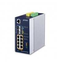 Switch Managed L3 8-Porte 10/100/1000T 802.3bt PoE + 2-Porte 100/1000X SFP + 2-Porte 10G SFP+  (-40 a 75°C)