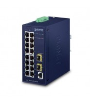 Switch Managed L2/L4 16-Porte 10/100/1000T + 2-Porte 100/1000X SFP (-40 a 75°C)