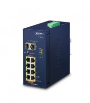Switch Unmanaged 8-Porte 10/100/1000T 802.3at PoE + 2-Porte 100/1000X SFP (-40 a 75°C)