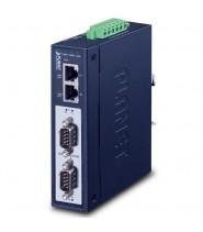 Modbus Gateway Industriale 2-Porte RS232/RS422/RS485 2 x 10/100-TX, -40 a 75°C, 15KV isolation, dual 12~48V DC