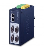 Modbus Gateway Industriale 4-Porte RS232/RS422/RS485 (2 x 10/100BASE-TX, -40~75 degrees C, 15KV isolation, dual 12~48V DC