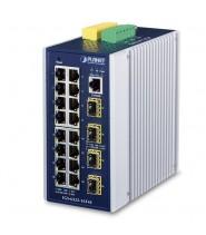 Switch Managed L3 16-Porte 10/100/1000T + 4-Porte 100/1000X SFP (-40 a 75°C)