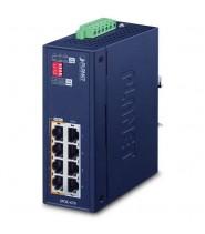 Injector Hub 4-Porte 10/100/1000T 802.3bt PoE++ , Booster 12V (-40 a 75°C, 12~54VDC)