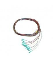 LC Pigtail 900um fiber 50/125 OM3 1 mt Confezione da 12 Pezzi di Colori Differenti