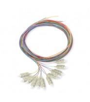 SC Pigtail 900um fiber 50/125 1 mt Confezione da 12 Pezzi di Colori Differenti