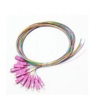 SC Pigtail 900um fiber 50/125 OM3 1mt Confezione da 12 Pezzi di Colori Differenti