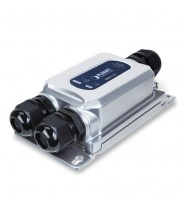 Media Converter IP67 10/100/1000T 802.3at PoE+ a 1000LX/SX (mini-GBIC, SFP) (-40 a 75°C, 24~56V power boos)
