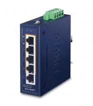 Switch Unmanaged 4-Porte 10/100/1000T 802.3at PoE +  1-Porta 10/100/1000T (-40 a 75°C)